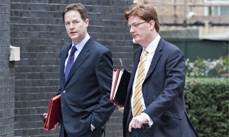 Nick Clegg and Danny Alexander of the Liberal Democrats