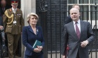 Julie Bishop and William Hague leave 10 Downing Street