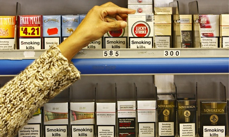 Cigarettes: tobacco companies have funded newsagents to argue against plain packaging.