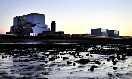 Hinkley Point B Hinkley Point A nuclear power stations besides the Bristol Channel