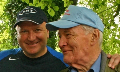 A photo issued by the RMT of Bob Crow and Tony Benn together at the Tolpuddle martyrs' festival. Benn died this morning, three days after Crow's sudden death. Crow and Benn were two of the most prominent figures on the British left.