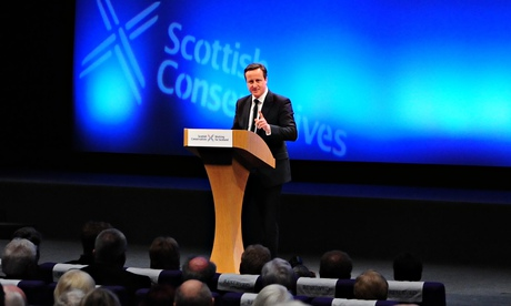 David Cameron at the Scottish Tories' spring conference in Edinburgh