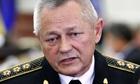Ukrainr defence minister Igor Tenyukh