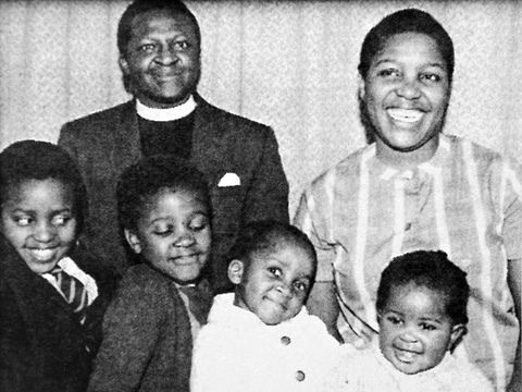 Desmond Tutu and his wife  Leah  and their children  from left  Trevor    Young Desmond Tutu