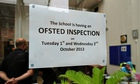 Ofsted inspection sign