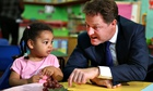 Nick Clegg at a nursery in London