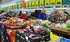 Inside a Lidl store supermarket interior