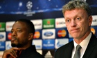 David Moyes and Patrice Evra meet the media