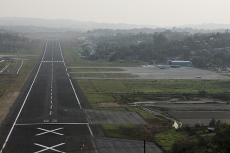 Veer Savarkar International Airport seen on March 18, 2014 in Port Blair, India. Officials on the remote Indian islands of Andaman in southeastern Bay of Bengal are sceptical about resuming search for a missing Malaysian jetliner by Indian military and Coast Guard, three days after the search in the Andaman Sea and Bay of Bengal was called off at the request of Malaysia.