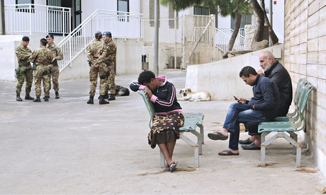 Fanus at Lampedusa's immigration centre