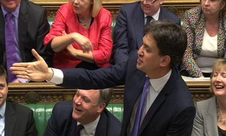 Ed Miliband responding to the budget statement.