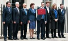George Osborne with his red budget bag