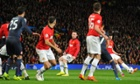 Robin van Persie curls in a free-kick to complete his hat-trick and put Manchester United through. Possibly.
