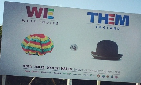 A poster advertising the ODI series between West Indies and England.