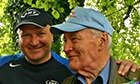 Bob Crow and Tony Benn at the Tolpuddle Martyrs festival.