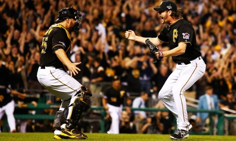 The Pittsburgh Pirates are moving on to face the St Louis Cardinals in the National League Divisional Series after defeating the Cincinnati Reds 6-2 in the NL Wild Card Game.