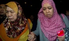 Relatives of passengers on missing Malaysia Airlines flight MH370.