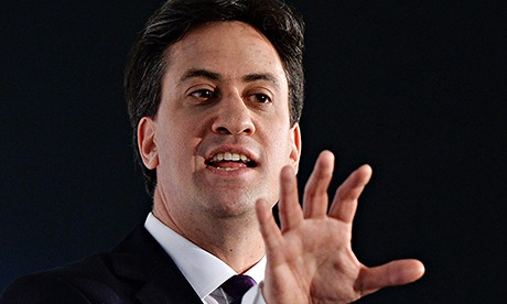 Labour Party leader Ed Miliband delivers a speech