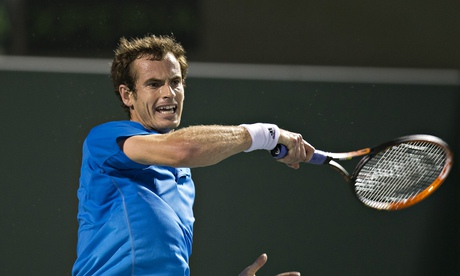 Andy Murray during his win against Matthew Ebden in the second round of the Sony Open in Miami.