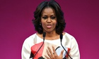 Michelle Obama delivers her speech at the Stanford Center at Peking University.