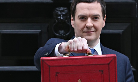 George Osborne poses for the cameras before the budget last week.