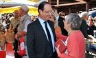 Francois Hollande was greeted warmly in Tulle during the 2012 election