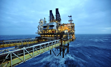 A BP oil platform in the North Sea off Aberdeen