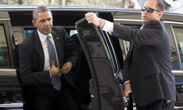 US President Barack Obama arrives at the 2014 Nuclear Security Summit in The Hague, Netherlands.