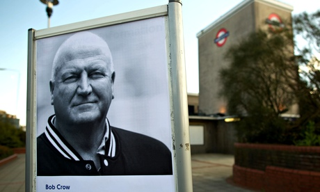 A picture of Bob Crow is displayed outside Wanstead tube station