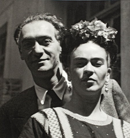 Nickolas Muray and Frida Kahlo by Nickolas Muray, 1939.