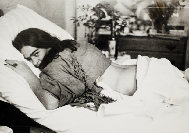Frida stomach down by Nickolas Muray, 1946.