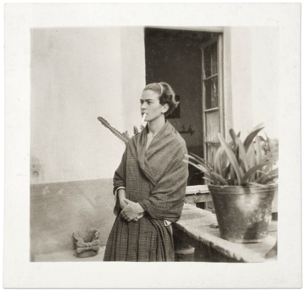 Frida Kahlo in the Casa Azul, Anonymous, 1930.