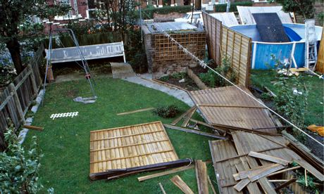 Garden fences blown down