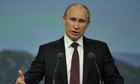 Vladimir Putin at the St Petersburg international economic forum