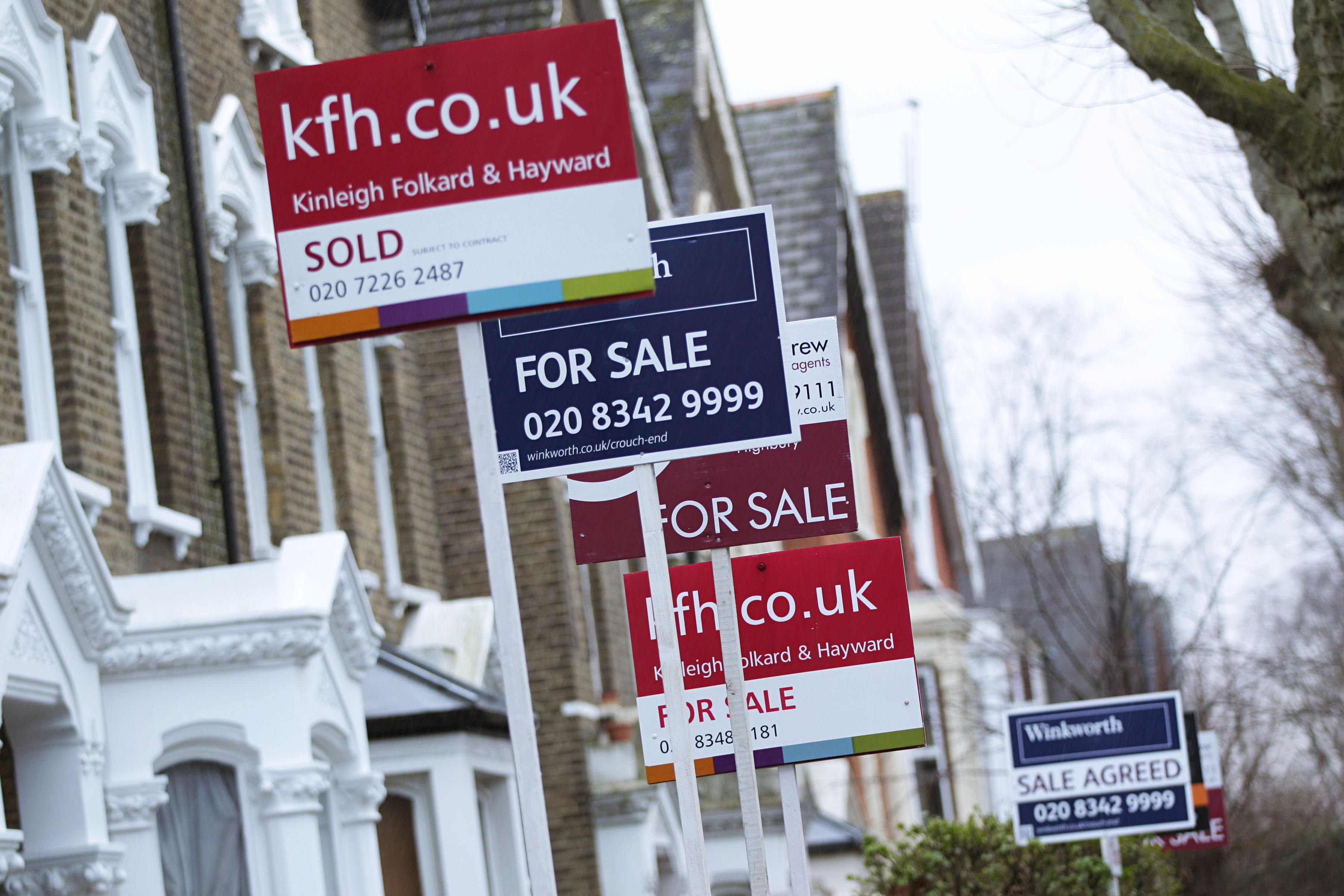 Uk house price inflation rises to 7 money the guardian for On the property sale prices
