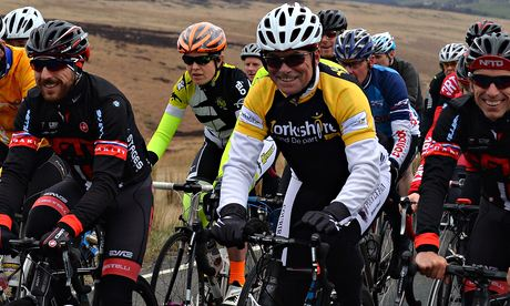 Bernard Hinault rides up Cragg Vale