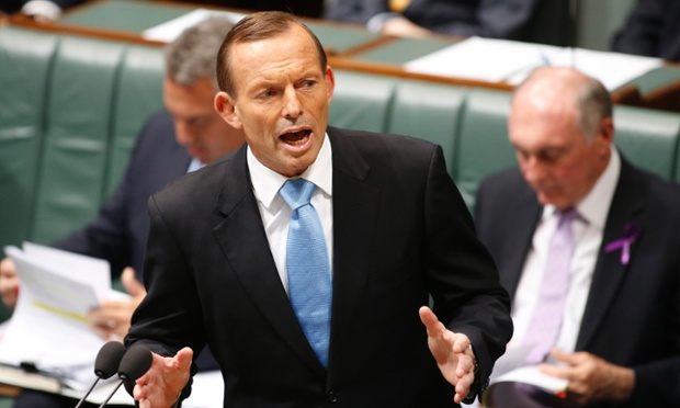 Prime Minister Tony Abbott during House of Representatives question time at Parliament House in Canberra,