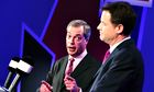 Feisty Farage beat cool Clegg in debate over Europe, instant poll says