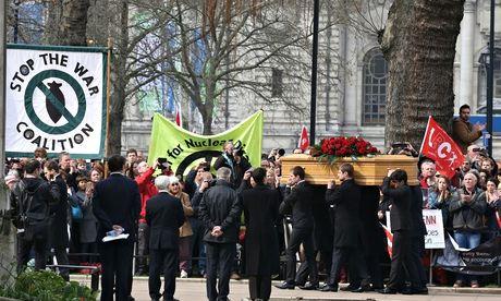 Tony Benn funeral procession