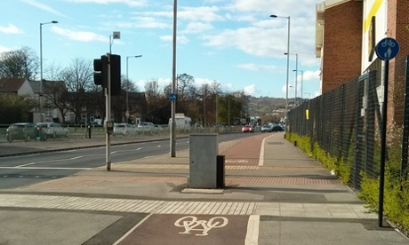 This Sheffield cycle path is