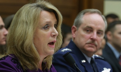 US Air Force secretary Deborah Lee James and chief of staff Mark Welsh. The Air Force has come under scrutiny over the cheating scandal.