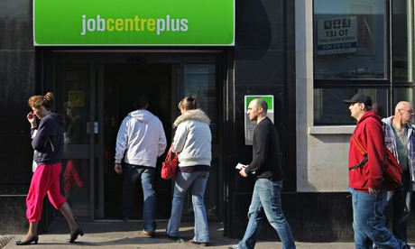 People enter a Job Centre in Bristol