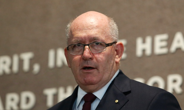 Incoming Governor General Peter Cosgrove delivers a speech during the Australia and the Vietnam War book launch at the Australian War Memorial in Canberra, Thursday, March 20, 2014.