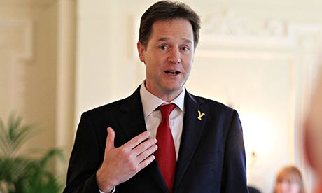Nick Clegg talking