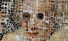 Portraits Made of Test Tubes and Pushpins Michael Mapes