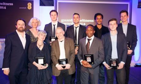 Winners GuardianWitness 2014 with David Mitchell