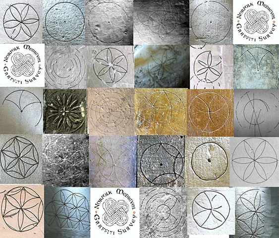 Graffiti: Compass drawn designs