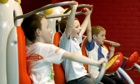 Children work out at a gym session