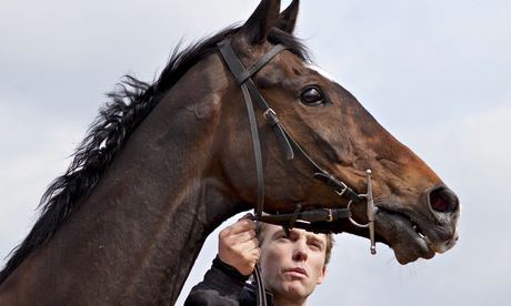 Michael Scudamore with Monbeg Dude