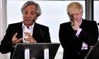Sculptor Sir Anish Kapoor with London mayor Boris Johnson